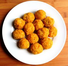 Soft lentil & rice balls for toddlers