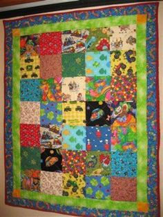 """""""I Spy"""" Quilt for Lit Ray - Quilters Club of America Baby quilt with 5 1/2"""" squares"""
