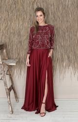 Sarena Skirt - Burgundy – Folkster Bridal Stores, Beaded Top, Ash Grey, Bridesmaid Dresses, Wedding Dresses, Black Tie, Get The Look, Midi Skirt, Burgundy
