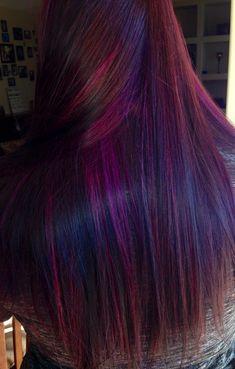 Purple red hair. Amazing hair done by @Tara Aaron-Andujar !!