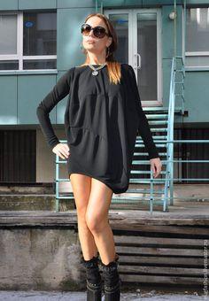 Купить Блузка черная - eug, черный, однотонный, блузка, блузка женская, блузка на заказ