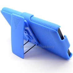 $13.95 > 10% Coupon Code : Pinthis Blue Kickstand Holster Combo Hard Case Snap on Cover For Nokia Lumia 900