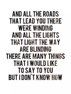 oasis lyrics | Tumblr on We Heart It