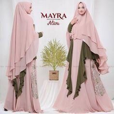Aliva Syari by Mayra Ootd Hijab, Hijab Dress, Fashion Pants, Fashion Dresses, Mode Abaya, Islamic Clothing, African Print Fashion, Muslim Fashion, Marie
