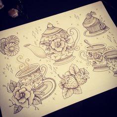Tea Party Flash Art