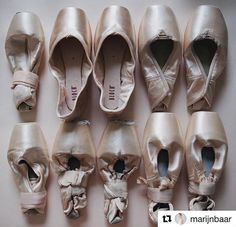 Going, going, gone how dead are your Pointe shoes? Do you hold out on getting new ones just so you don't have to break them in? Or do you love a hard new pair, just so you can break them in? #Repost @marijnbaar with @repostapp ・・・ Old vs. : that feeling of excitement and dread that only a new pair of pointe shoes seem to bring. Got myself a pair of Bloch Dramatica, and I might do a sewing video later on. If you would like to watch