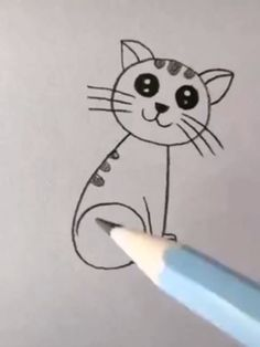 Cute Easy Drawings, Art Drawings For Kids, Art Drawings Sketches Simple, Pencil Art Drawings, Art For Kids, Drawing Videos For Kids, Doodle Art Designs, Diy Canvas Art, Art Lessons