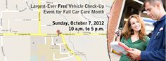 http://www.carcare.org/2012/08/largest-ever-free-vehicle-check-up-event-for-fall-car-care-month/#