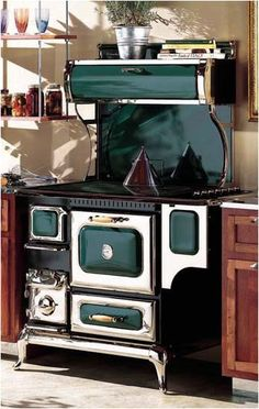 I really want a wood/coal cook stove, although I wouldn't want it this close to combustible cabinets!