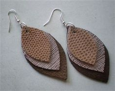 leather earring templates