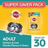Pedigree Gravy Adult Dog Food Chicken Liver Chunks 2 4 Kg Pack