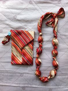 Necktie necklace and mini clutch - tutorial on www.madebymarzipan.com