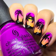 Gossip Over The World: Fashion Trend ! Nail Art China Glaze X-Ta-sea China Glaze, Summer Nails, Fashion Online, Nailart, My Favorite Things, Instagram Posts, How To Make, Fashion Trends, Gossip