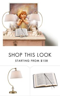 """""""Thy Word is a Light Unto My Path and a Lamp Unto My Feet"""" by barbarapoole ❤ liked on Polyvore featuring interior, interiors, interior design, home, home decor, interior decorating, Lite Source and Aspinal of London"""
