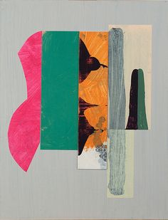 Diana Jahns. 15x12 acrylic painted collage paper on board