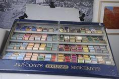 Vintage thread display case