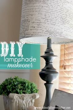 Blissfully Ever After: How to Recover a Lampshade {Tutorial}