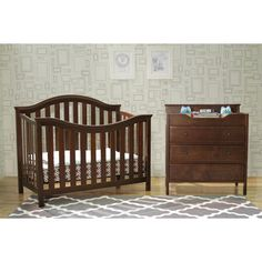 DaVinci Goodwin 4-in-1 Convertible Crib with Toddler Rail in Espresso | Overstock.com Shopping - The Best Deals on Cribs