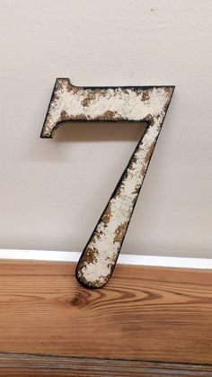 Rustic shabby chic style numbers and letters by ThePinkToolBox