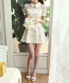 "Use this coupon code ""playbanovici"" to get all 10% off! Sweet lace floral dress"