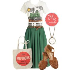 Novel Tee in Tomka by modcloth on Polyvore featuring мода and Out of Print