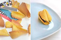 "Crisp cookies made from flour, sugar, vanilla and oil with a ""texture"" wrapped inside."