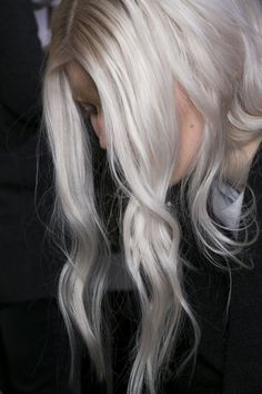 Platinum Gray Ombré #hair