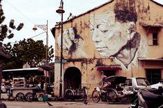 Penang Street Art Wall Painting at Penang - OnlyPenang.com