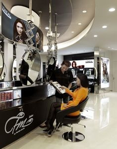 color area Beauty Salon Interior, Surabaya, Stationary, Salons, Color, Salon Interior, Lounges, Colour, Colors