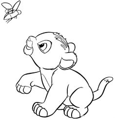 Printable Coloring Pages Of Baby Simba Timon And Pumbaa From Disneys The Lion King