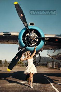 The Best Senior Photography Airplane Art, Senior Portraits, Senior Pictures, Senior Pics, Aviation Wedding, Pinup, Photographic Studio, Nose Art, Pin Up Girls
