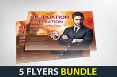 5 Corporate Business Flyers Bundle by Business Templates on @creativemarket