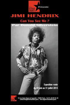 Jimi Hendrix by Donald Silverstein (1934-1975)