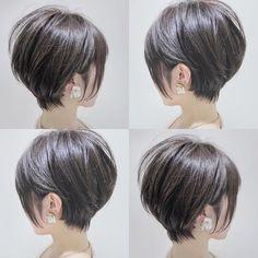 A imagem pode conter: uma ou mais pessoas - Cheveux courts - Ideas For Women's Popular Short Haircuts, Short Bob Haircuts, Haircuts For Long Hair, Short Hair Cuts, Long Short Hair, Asian Bob Haircut, Long Pixie Cuts, Hair Images, Pixies