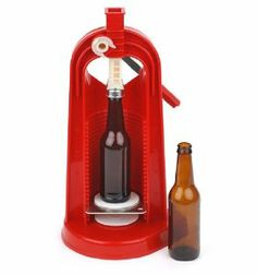 Colonna Bench Capper by E.C. Kraus. $69.95. (Cpr210) This Is The Best Style Of Bench Capper We Have Seen. It Has A Well Engineered Gear Design That Allows You To Put The Cap On The Bottle With Very Little Effort. No Need To Bear Down On The Handle. It Has A Hardened Steel Capper Head For Long Life. And, Will Cap Bottles Sizes From Just 4 Inches Tall On Up To Full-Size Champagne Bottles. Total Height Is 18-1/2 Inches.