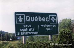 Bienvenue a Quebec  // Welcome to Quebec Montreal est la ville la plus grande // Montreal is the largest city