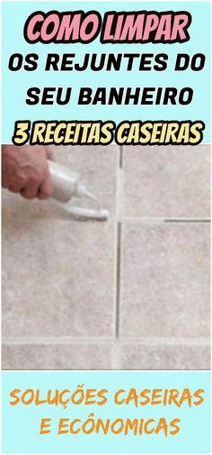 Vinagre, bicarbonato de sódio e suco de limão são excelentes para limpar rejunte. Confira aqui! #rejunte #banheiro #limpar #solução #caseira #receita #receitinha #dicas #truques #casa #limpeza