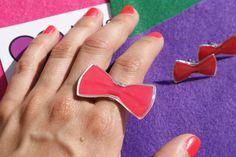 ring & earring by metal & glass 12,00  www.lovefor.gr
