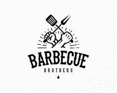 Barbecue Brothers typography custom illustartion hands macho show reality tv food brothers bbq barbecue Restaurant Branding, Logo Branding, Branding Design, Gfx Design, Logo Design, Pizza Y Vino, Logo Inspiration, Badges, Grill Logo