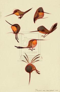 Rufous Hummingbird by sketchinthoughts.deviantart.com on @deviantART