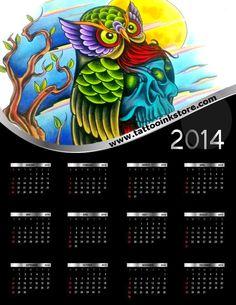Tattoo calendar 2014, print size here: http://www.blog.tattooinkstore.ro/