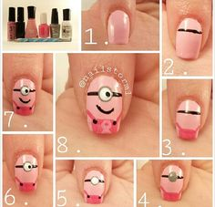 How to do the minion nails