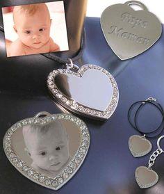 Gravure personnalisée pendentif cœur 27,90€ Gravure Photo, Engraved Jewelry, Heart Shapes, Rhinestones, Fantasy
