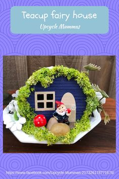 Have you seen our sweet little fairy teacup houses? We sell these at local markets. Visit our page to see where we'll be next.