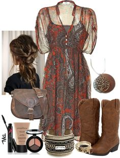 """""""A Lil Country Paisley"""" by tmlstyle on Polyvore"""