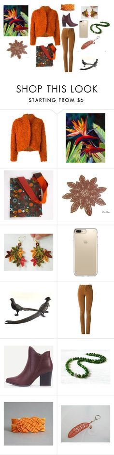 """""""Orange for Her"""" by keepsakedesignbycmm ❤ liked on Polyvore featuring Kenzo, Speck and Amapô"""