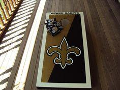 New Orleans Saints cornhole boards