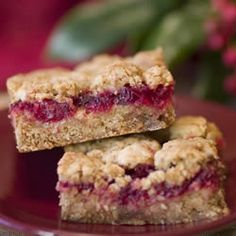 Cranberry Bars Allrecipes.com