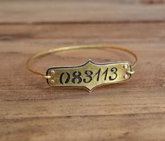 Save The Date, Birthday date or other special date Bracelet// love this!