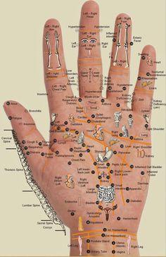 Alla dina kroppsdelar finns i handflatan! Tryck bara på platsen du känner..